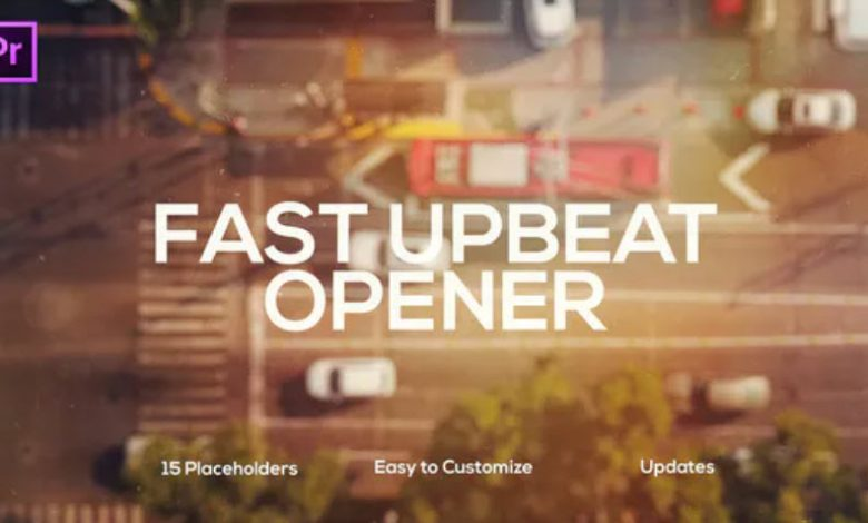 Fast Upbeat Slideshow for Premiere Pro