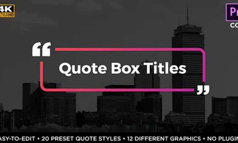 Quote Box Titles and Lower Thirds for Premiere Pro