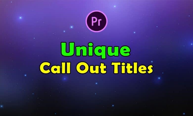 Unique Call Out Titles for Premiere Pro