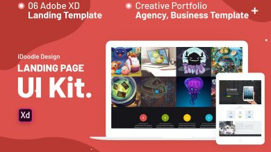 Photo of [Adobe XD] UI Kits Landing Page Template