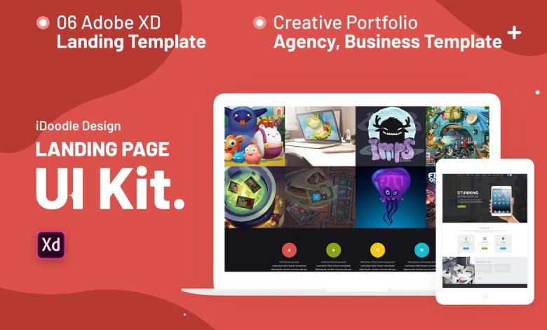 iNine UI Kits Landing Page Template