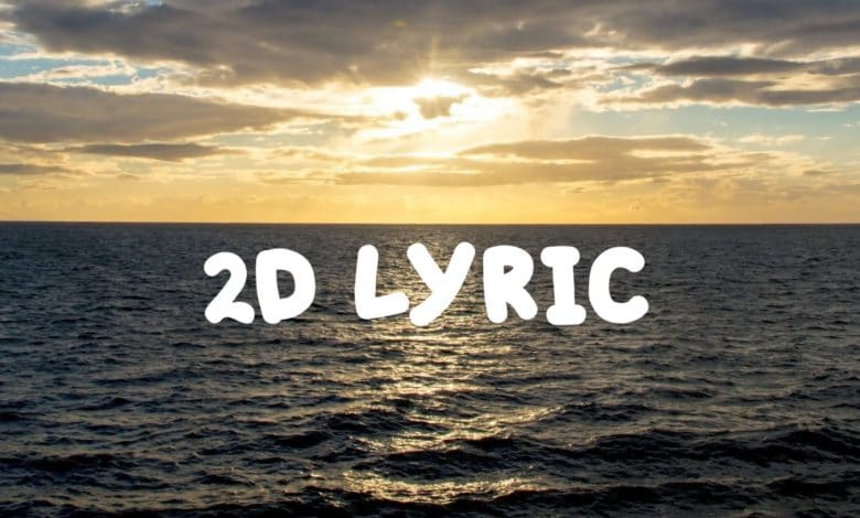 2d Lyric Titles for After Effects