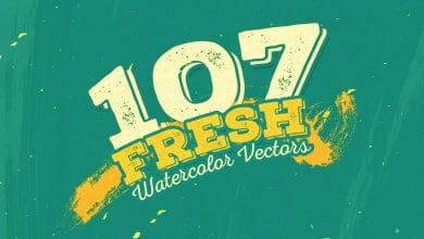 Photo of [Illustrator] 107 Fresh Watercolour Vectors