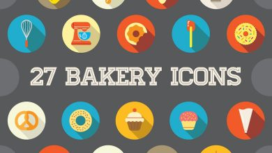 Photo of 27 Vector Bakery Flat Icons