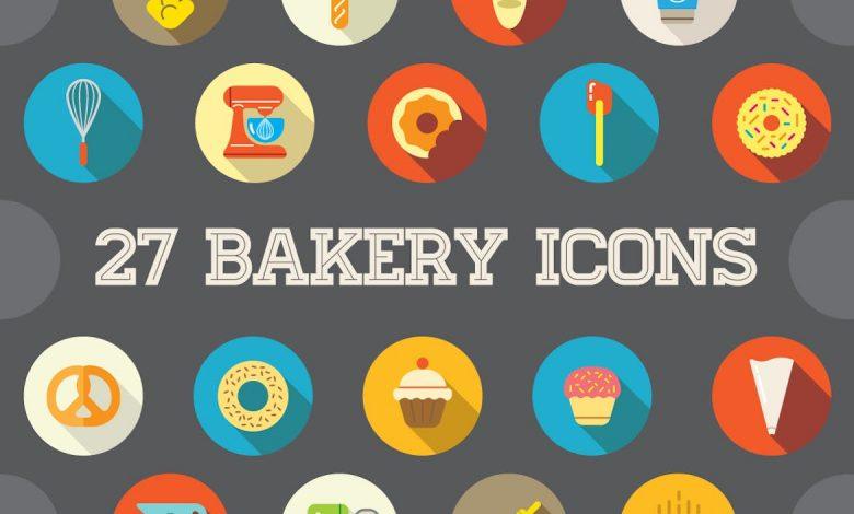 27 Vector Bakery Flat Icons