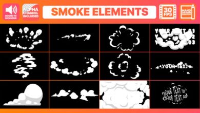 Photo of [Premiere Pro] 2D Cartoon Smoke Titles