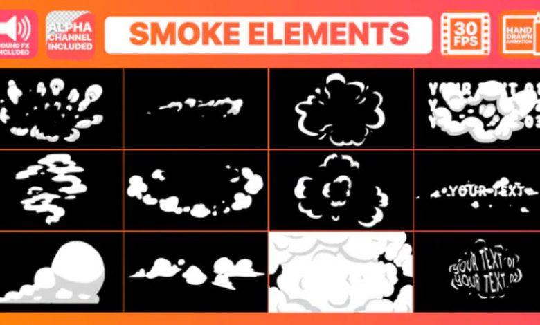 2D Cartoon Smoke Titles For Premiere Pro