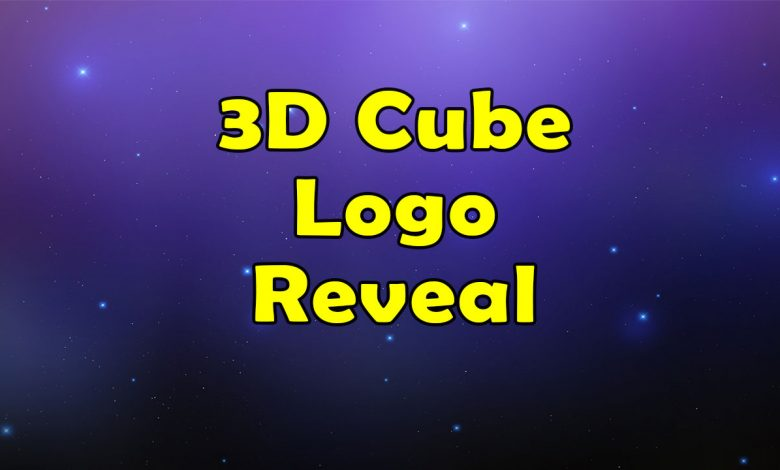 3D Cube Logo Reveal for After Effects