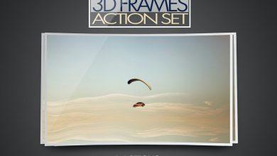 Photo of [Photoshop] 3D Frame Action Set