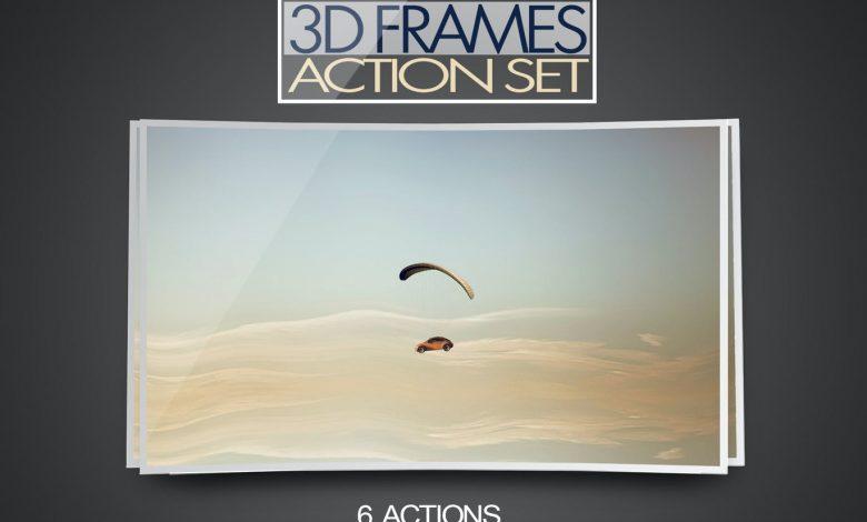 3D Frame Action Set for photoshop