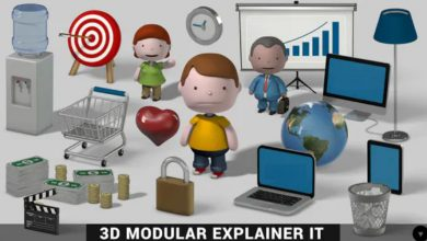 Photo of [After Effects] 3D Modular Explainer Kit