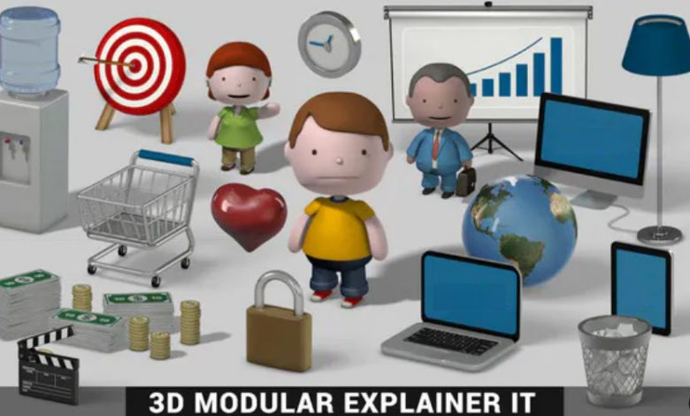 3D Modular Explainer Kit for After Effects