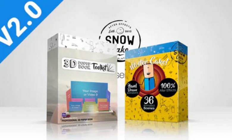3D Pop-Up Book Explainer Toolkit and Story Pack for After Effects