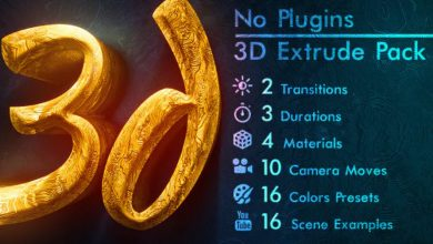 Photo of [After Effects] 3D Gold Titles and Logo