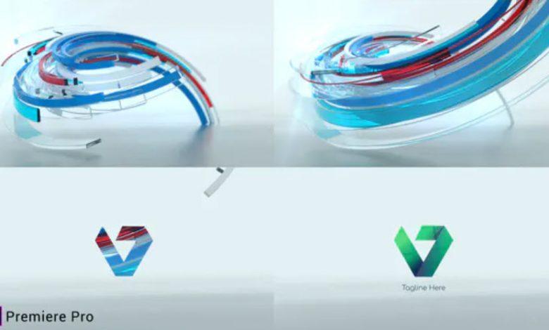3D Ribbon Logo Reveal for Premiere Pro