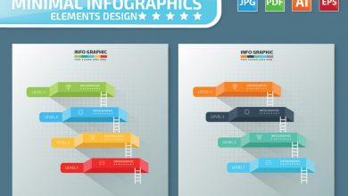 Photo of [Illustrator] 4 Steps Infographics Design