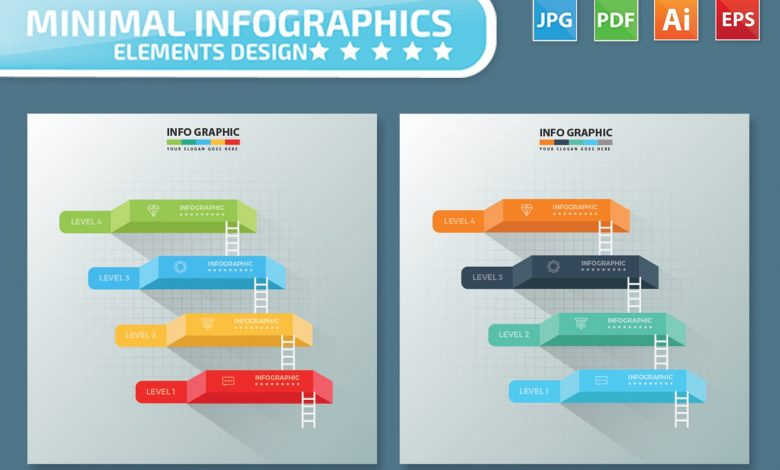 4 Steps Infographics Design