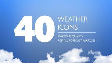 Photo of [Photoshop] 40 Weather Forecast Icon Set