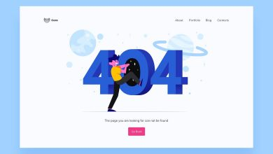 Photo of [Illustrator] 404 Page Illustrations Template 1