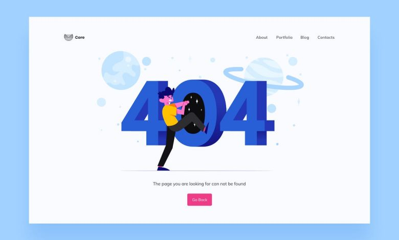 404 Page Illustrations Template 1 for Illustrator and Sketch