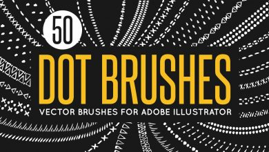 Photo of [Illustrator] 50 Vector Dot Brushes