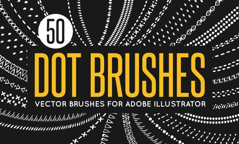 50 Vector Dot Brushes for Illustrator