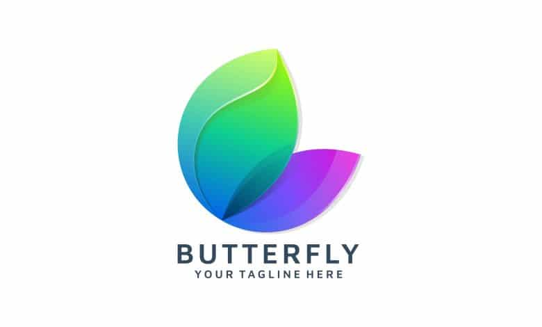Abstract Butterfly Colorful Logo Template