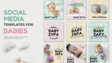 Photo of [Illustrator] Baby Media Banners