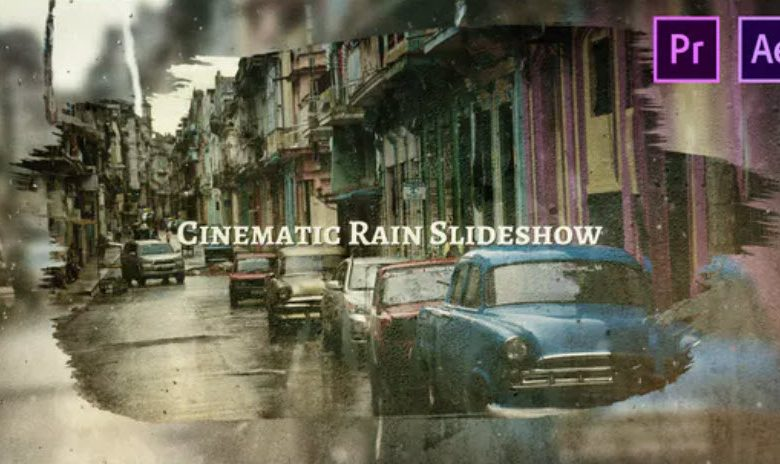 Cinematic Rain Slideshow for After Effects and Premiere Pro
