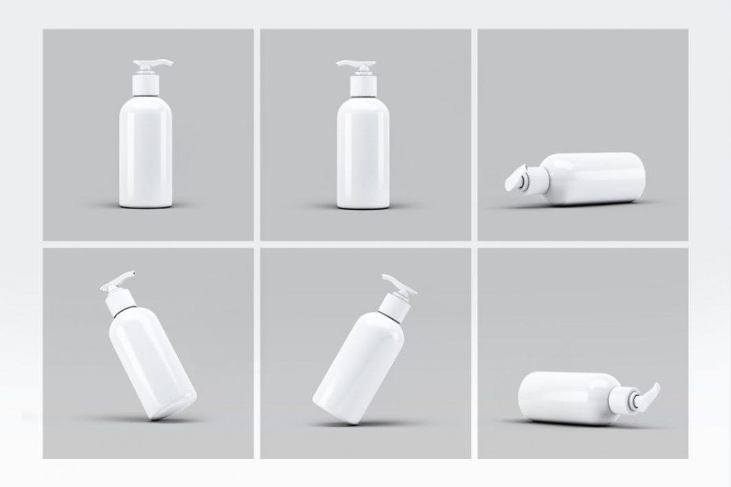 Cosmetic Bottle Dispenser Mock-Up V4-2