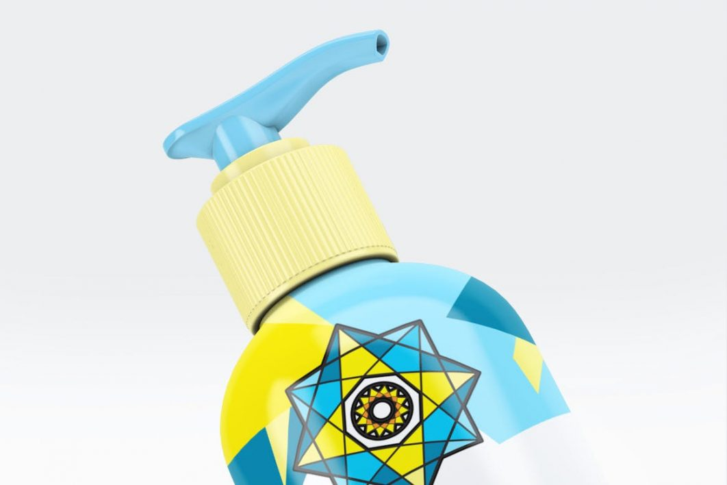 Cosmetic Bottle Dispenser Mock-Up V4-3