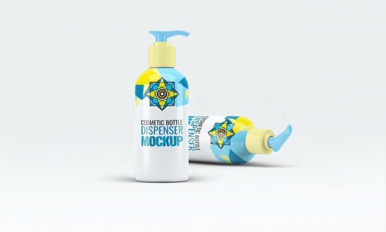 Cosmetic Bottle Dispenser Mock-Up V.4