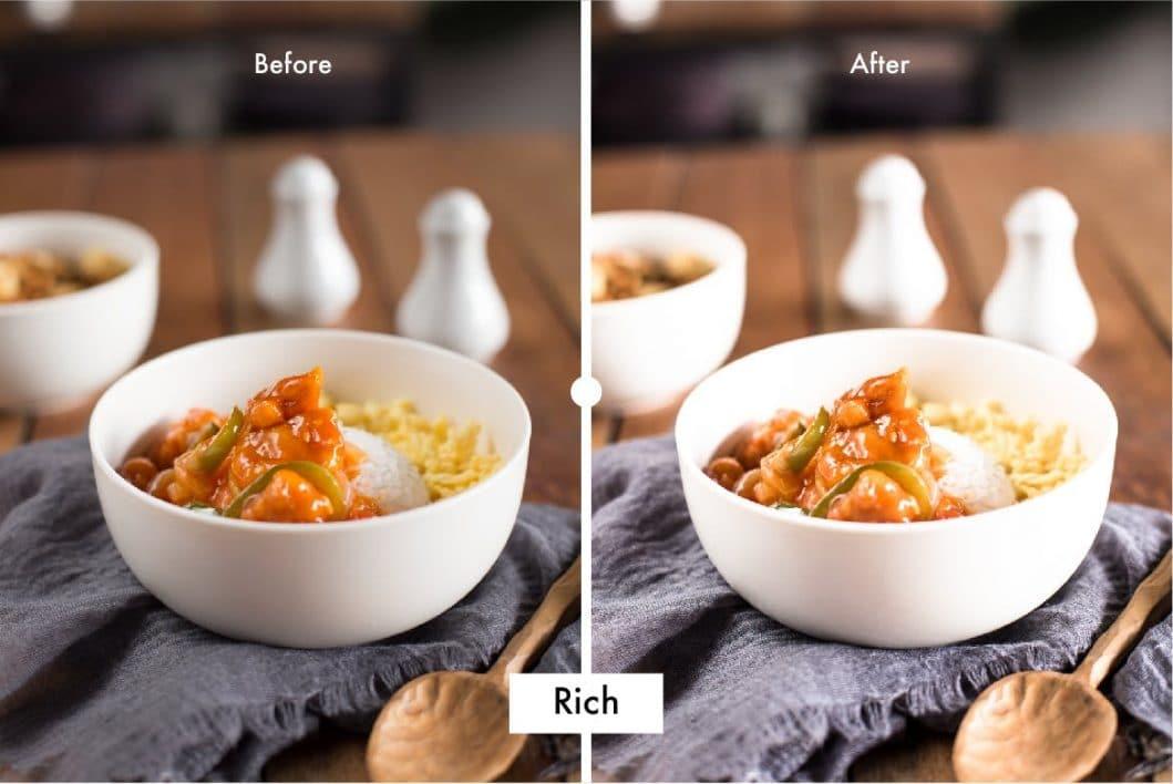 Pro Food Lightroom Preset Rich