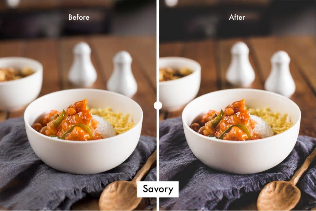 Pro Food Lightroom Preset Savory