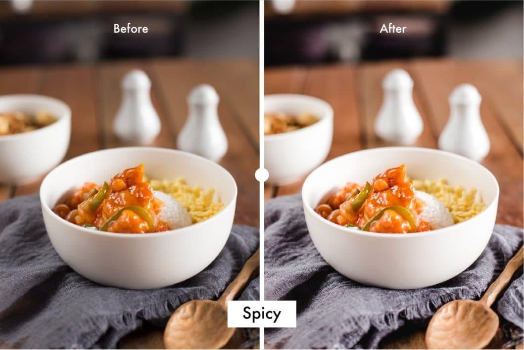 Pro Food Lightroom Preset Spicy