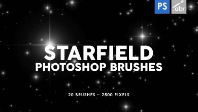 Photo of [Photoshop] 20 Starfield Stamp Brushes