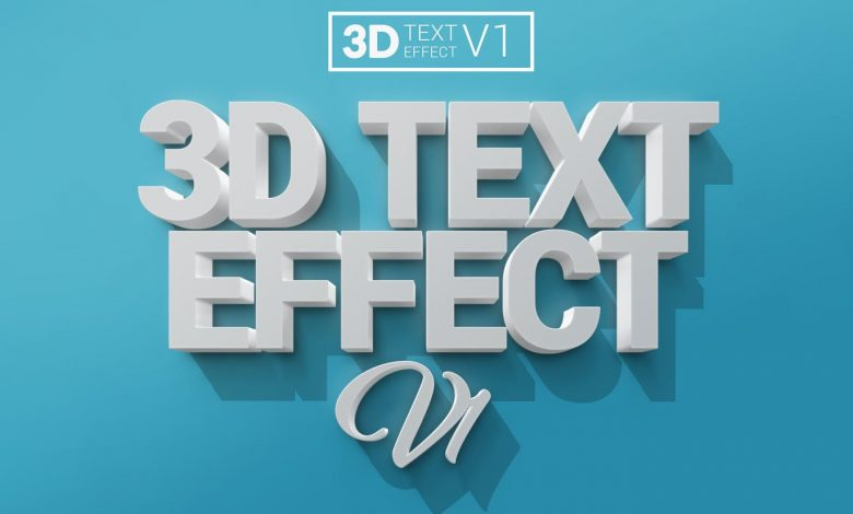3D Text Effects V1 for Photoshop