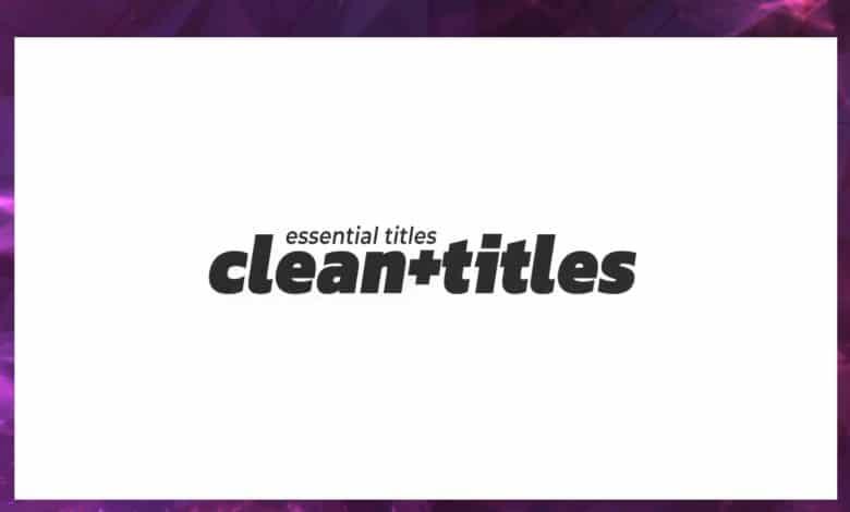 20 Clean Minimal Titles For Premiere Pro