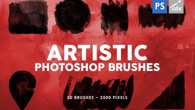 Photo of [Photoshop] 30 Artistic Stamp Brushes Vol.2