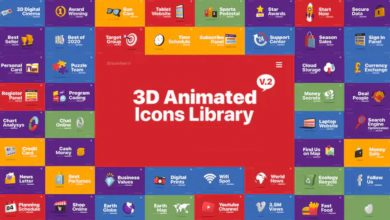 Photo of [After Effects] 3D Animated Icons Library