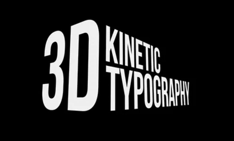 3D Kinetic Typography Titles for After Effects