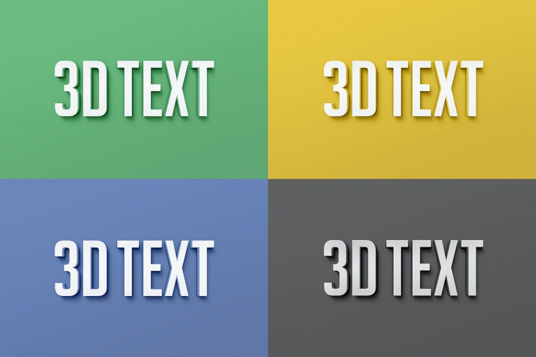 3D Text Effects example 2