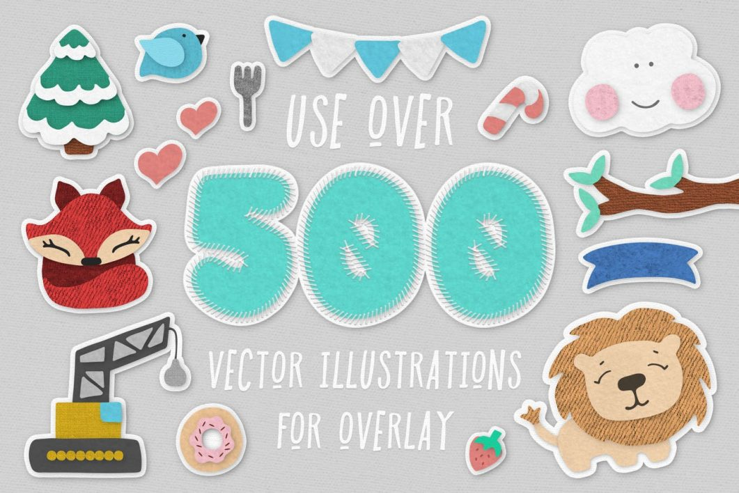 500 vectors illustration