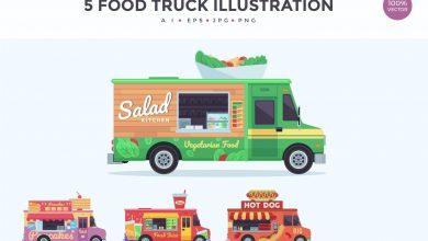 Photo of [Illustrator] 4 Food Truck Vector Illustration Set 3