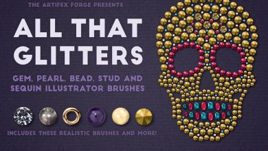 Photo of [Illustrator] All That Glitters Vector Brushes