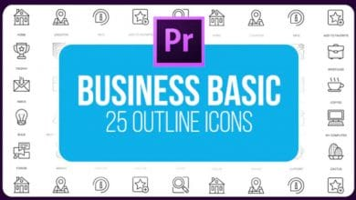 Photo of [Premiere Pro] Business Basic Outline Animated Icons