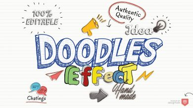 Photo of [Illustrator] Doodles Text Effect