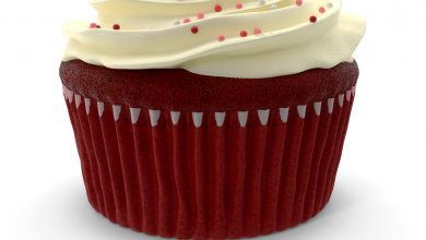 Photo of [Photoshop] 3D Red Velvet Cupcake