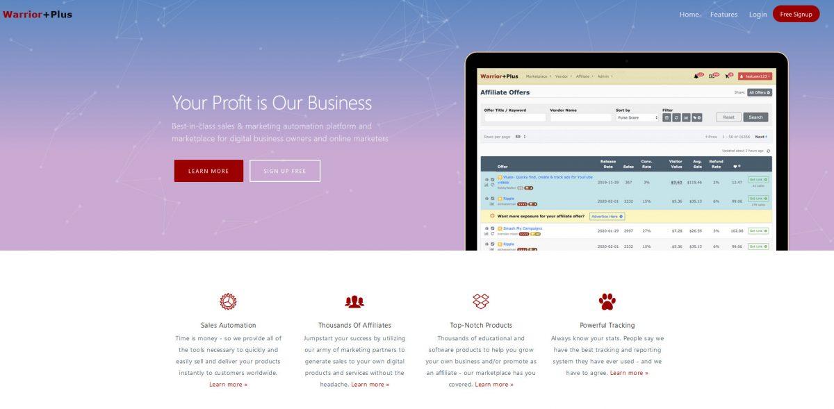 WarriorPlus Website