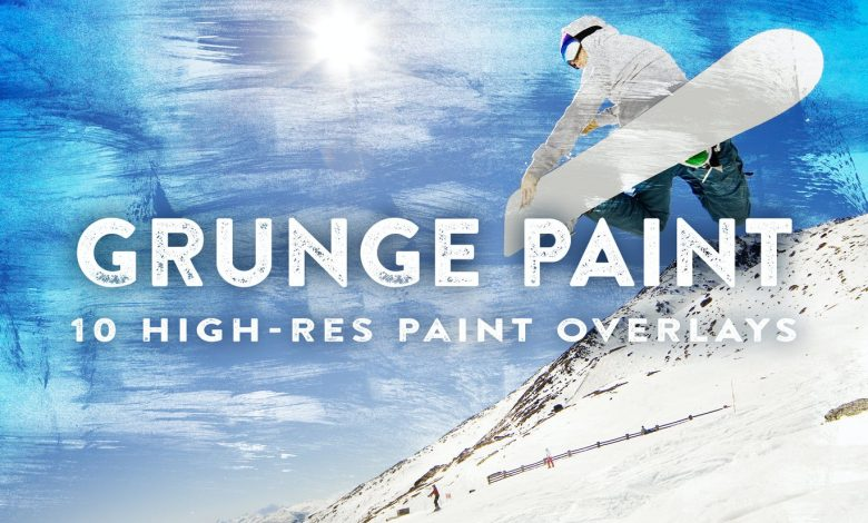 10 Grunge Paint Overlays for photoshop